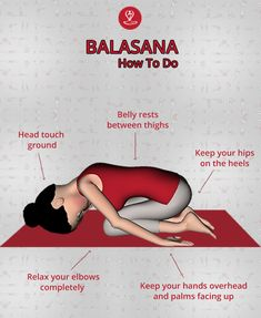 yoga (Child Pose) truly promotes positive feelings, transporting you back to your childhood days and provides physical, mental and emotional relief. Kids Yoga Poses, Kid Poses, Yoga Poses For Beginners, Child's Pose Yoga, Learn Yoga, How To Do Yoga, Yoga Chart, 6 Chakra, Ramdev Yoga