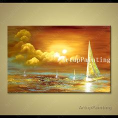 Cheap Painting  Calligraphy, Buy Quality Home  Garden Directly from China Suppliers:Hand painted canvas oil wall pictures abstract oil painting huge modern abstract canvas boat ship sailing  yacht Wall Art Enjoy ✓Free Shipping Worldwide! ✓Limited Time Sale✓Easy Return. Oil Painting Abstract, Abstract Canvas, Cheap Paintings, Hand Painted Canvas, Picture Wall, Sailing, Wall Pictures, Wall Art, Aliexpress