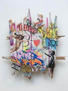 Street Art Banksy, Graffiti Art, Pop Art, Banksy Artwork, Nightclub Design, Wolf Of Wall Street, Urban Art, Comic Art, Ideas