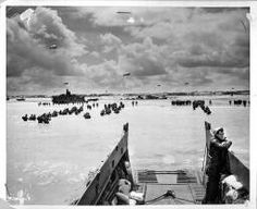 WORLD WAR II: D-DAY, /nAmerican troops wade ashore at Utah Beach during the invasion of Normandy, France, - Stock Image D Day Normandy, Normandy Beach, Normandy France, Utah, Day Of Infamy, 4th Infantry Division, D Day Invasion, Normandy Invasion, Fle