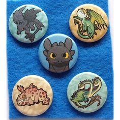 How To Train Your Dragon pinback button set by echogreens on Etsy,