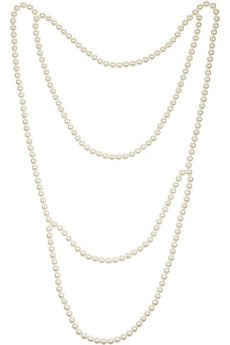 Maison Martin Margiela Back Pearl Necklace - this versatile piece was designed to drape along your back - for maximum impact