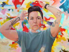 @SaatchiArt: #KimLeutwyler; Oil Painting Do you see what I...
