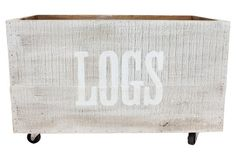 "Small Crate w/ Wheels, ""Logs"""