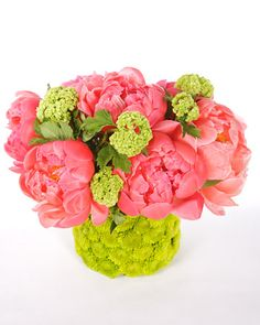 Peony Arrangement  Peonies are beautiful alone, but they can also be mixed with a variety of other spring flowers to create a magnificent arrangement.