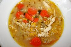 chicken soup with red lentils