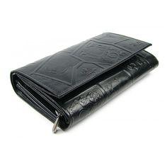 Peněženka dámská černá se zapínáním - peněženky AHAL