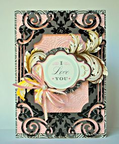Crafty Creations with Shemaine: Anna Griffin Flocked Cardstock Layers