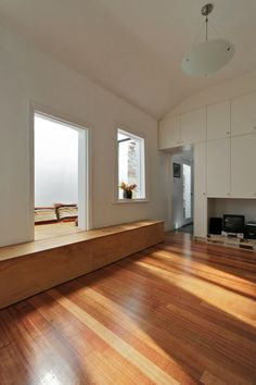 Nice Terrace House Design: Stunning Camelia Cottage Design Interior In Living Space Decorated With Wooden Flooring And Wooden Cabinet Furnit...