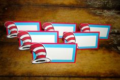 Suess themed Food tents birthday food tent by PurpleZebraPaperCo