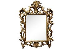 HOME DECOR – MIRROR – Wood Mirror Painted Gold on OneKingsLane.com