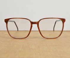 6140c750654 Vintage Glasses Frames, Oversized Square Eyeglasses, Womens Prescription  Eyewear, Tura France Large Brown Frames // 80s 90s Retro Minimalist