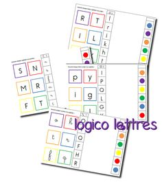 La maternelle de Laurène: fiches logico Fun Activities, Projects To Try, Classroom, Teacher, Math, School, Games, Reading, Free Printable Cards
