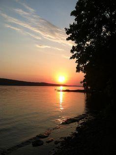 Skaneateles lake sunset..