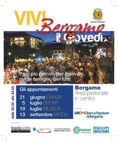 """COMUNE DI BERGAMO: VOLANTINO """"VIVI BERGAMO"""""""