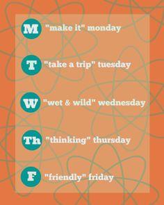 "linzlinzlinz: A Summer Activity Schedule for the ""Normal"" Family..."