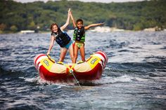 TUBING! My brother and I did this all the time!!