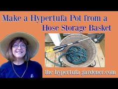 Making a Hypertufa Planter from a Hose Basket - YouTube