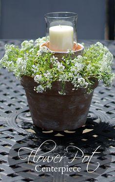 Flower Pot Centerpiece #dan330 http://livedan330.com/2015/08/02/flower-pot-centerpiece/