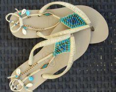 Sandalias, sandalias Boho, Flip Flops, sandalias de las mujeres, bohemio Chic, joyería, pulsera para el tobillo sandalias, zapatos planos, sandalias de playa, Boho zapatos