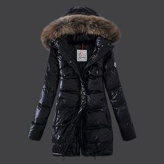 Cheap Moncler Down Coats Women Sale Style Black DC300401 UK