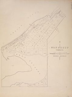 WONNERUP Cadastral map showing land use. Part of collection: Townsite maps, Western Australia. https://encore.slwa.wa.gov.au/iii/encore/record/C__Rb1987471