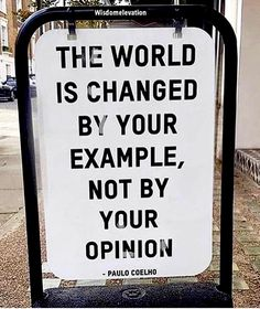 Example vs opinion, how to change the world Life Skills, Life Lessons, Be A Better Person, Nice Person, Michael Jackson's Songs, Be An Example Quotes, Change The World, Success Quotes, Law Of Attraction