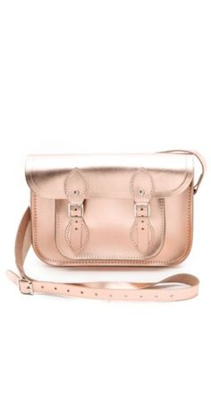 cambridge satchel in rose gold. pretty! pretty!