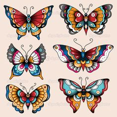 Baixar - Borboletas de arte escola tatuagem — Ilustração de Stock #51709645