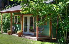 Green Garden Cottage Backyard Workshop Ideas Various Common Types from Elegant Backyard Cottages Design