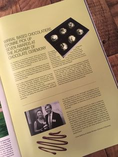 """Very happy and proud to be featured in @Livingwirral with an article about our awards at the Academy of Chocolate 2016. #choscars #AoCAwards """"Fab news for @EponinePatiss - proud to have had them in store since day one! Awesome work guys! 😘 #chocolate #Wirral"""" (Photograph by @whitmorewhite) (Eponine Patisserie & Chocolaterie)"""
