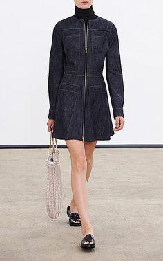 Derek Lam Zipper Front Denim Dress