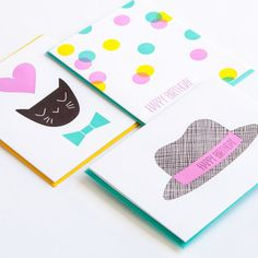 Sweet Birthday Cards 6 Pack now featured on Fab.