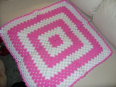 Dark Pink and white dolls blanket