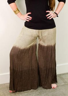 """A simple """"how to"""" on turning an old skirt into a pair of funky Palazzo pants! #DIY #repurposing #reusereducerecycle"""
