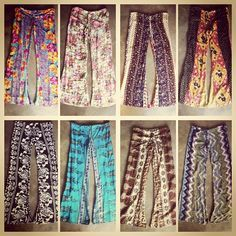 Hippie pants are back in style. I love them.