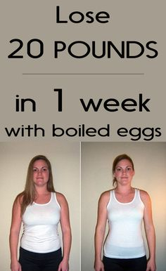 Lose 20 Pounds in 1 Week with Boiled Eggs - womenzoom.net