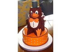 Virginia Tech Hokey Bird cake