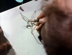 Chuck Jones Draws Bugs Bunny, Wile E. Coyote, Road Runner and Pepe Le Pew