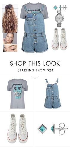 """""""Feeling Free"""" by teodoramaria98 ❤ liked on Polyvore featuring Boohoo, Converse, Thomas Sabo and Michael Kors"""