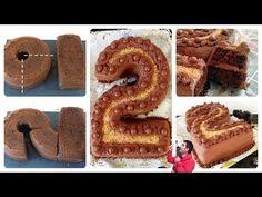 Chocolate cake for birthday, shape of number 2 2nd Birthday Cake Boy, Pretty Birthday Cakes, Number One Cake, Bible Cake, Elephant Baby Shower Cake, Creative Snacks, Minnie Cake, Monogram Cake, Cake Shapes