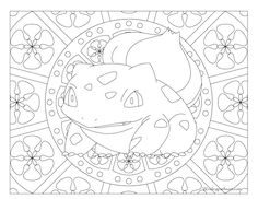 Adult Pokemon Coloring Page Bulbasaur