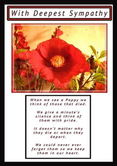 I used the Poppy Thoughts layer with the black edging, I enlarged the picture, added the Verse, with the Label With Deepest Sympathy. Simple but Beautiful.