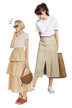 Mode Style, Simple Style, Everyday Fashion, Dress To Impress, Midi Skirt, Street Style, Cool Stuff, Spring, Womens Fashion