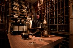wine tasting in the wine room Rare Wine, Home Wine Cellars, Wine Auctions, Wine Cellar Design, Support Mural, Wine O Clock, Wine Bottle Holders, Wine Time, Wine Storage