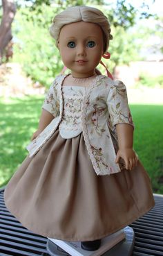 18 Doll Clothes Historical Colonial Caraco Jacket Fits