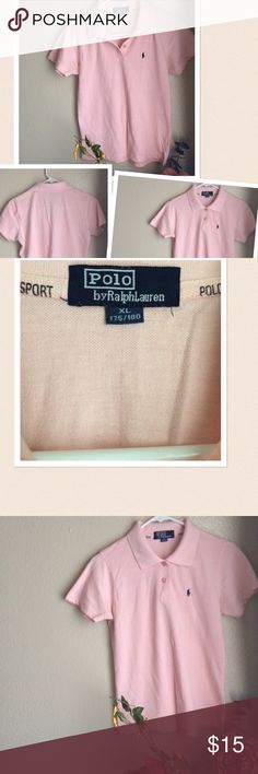 Polo Sport Rugby Polo Shirt Final Price: Polo Sport Rugby Shirt. Color: Light Pink Size : XL Preowned. Gently worn. If rhos condition is not right for you do not purchase. Polo Sport Tops