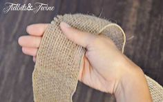 Tidbits&Twine How to Make a Bow Step 1