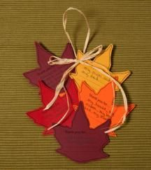 Give thanks Fall craft -   JESUS never leaves you!