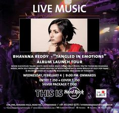 Bhavana Reddy Live at Hard Rock Cafe, GVK One Mall on 4 February 2015